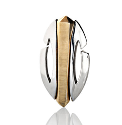 SCARAB FEMME – PENDANT SOLID 9K + 18K WHITE AND YELLOW GOLD