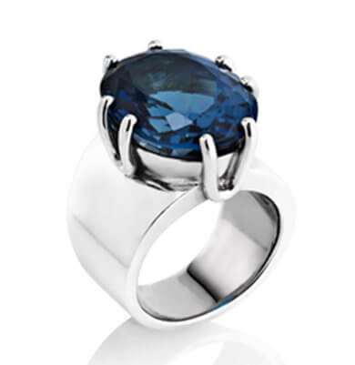 WILDFIRE GLAMOUR – 21CT LONDON BLUE TOPAZ IN STERLING SILVER