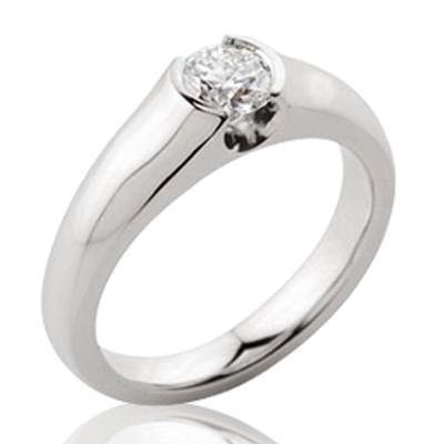 0.5CT ROUND BRILLIANT DIAMOND + SOLID PLATINUM