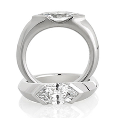 2CT MARQUISE CUT DIAMOND + SOLID PLATINUM