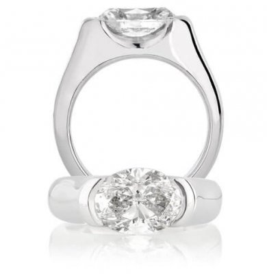 3 CARAT OVAL DIAMOND SOLITAIRE IN SOLID PLATINUM – SCARAB ROUGE SIGNATURE DESIGN
