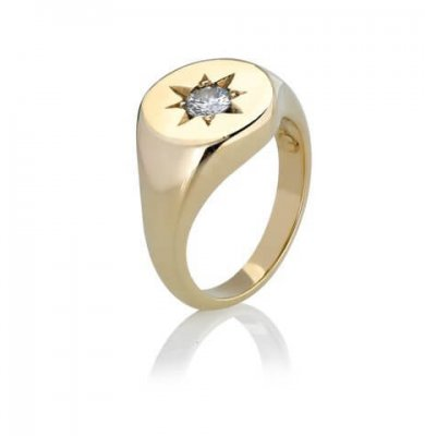 0.7CARAT OLD CUT DIAMOND + SOLID 9K YELLOW GOLD