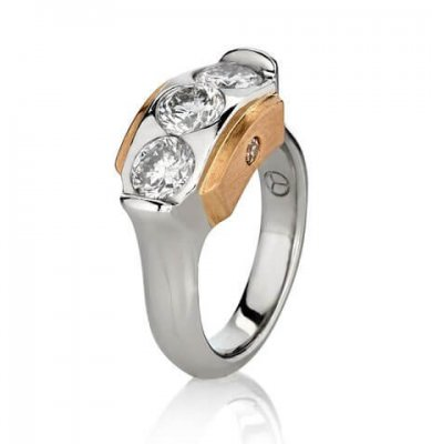 1.5 CARAT DIAMONDS IN SOLID PLATINUM + ROSE GOLD + ARGYLE CHOCOLATE DIAMONDS